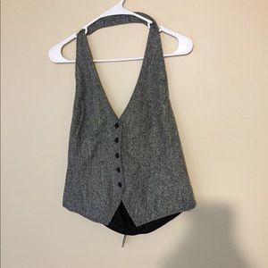 Plus sized Grey dress vest